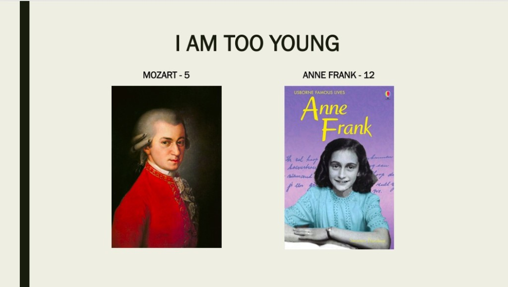 Mozartwas only 5 when he was very competent on keyboard & violin and composed music notes